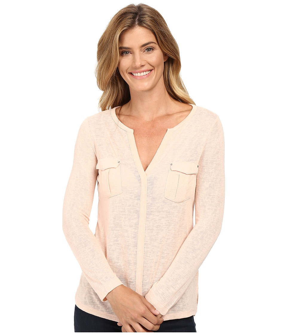 Calvin Klein Jeans - Long Sleeve Rollup with Cargo Pockets (Oxidized Pink) Women's Clothing