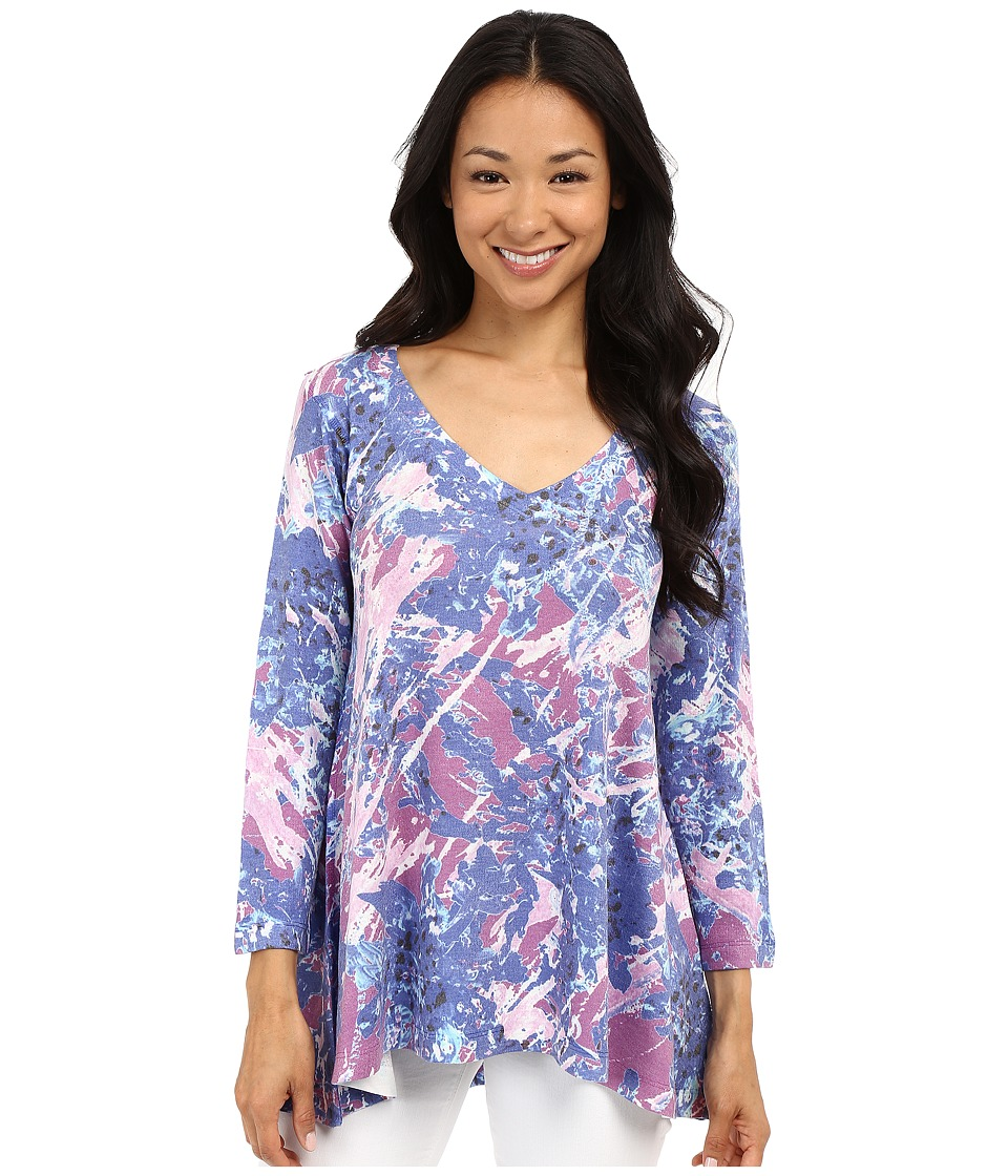 Nally & Millie - Scribble Floral Tunic (Multi) Women's Blouse