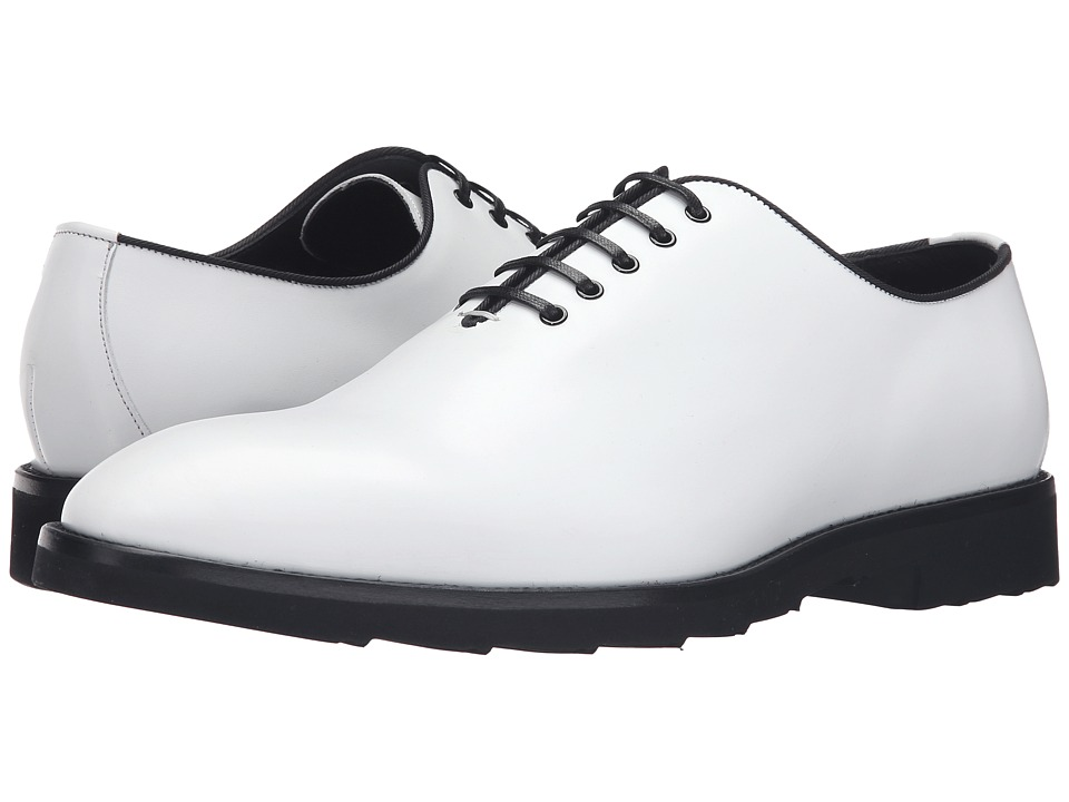 Dolce & Gabbana - A20017AC465 (White/Black) Men's Lace up casual Shoes