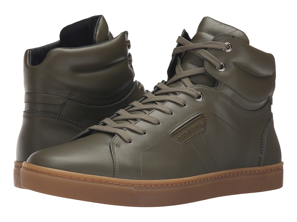 Dolce & Gabbana - CS1402A3444 (Army Green) Men's Lace up casual Shoes