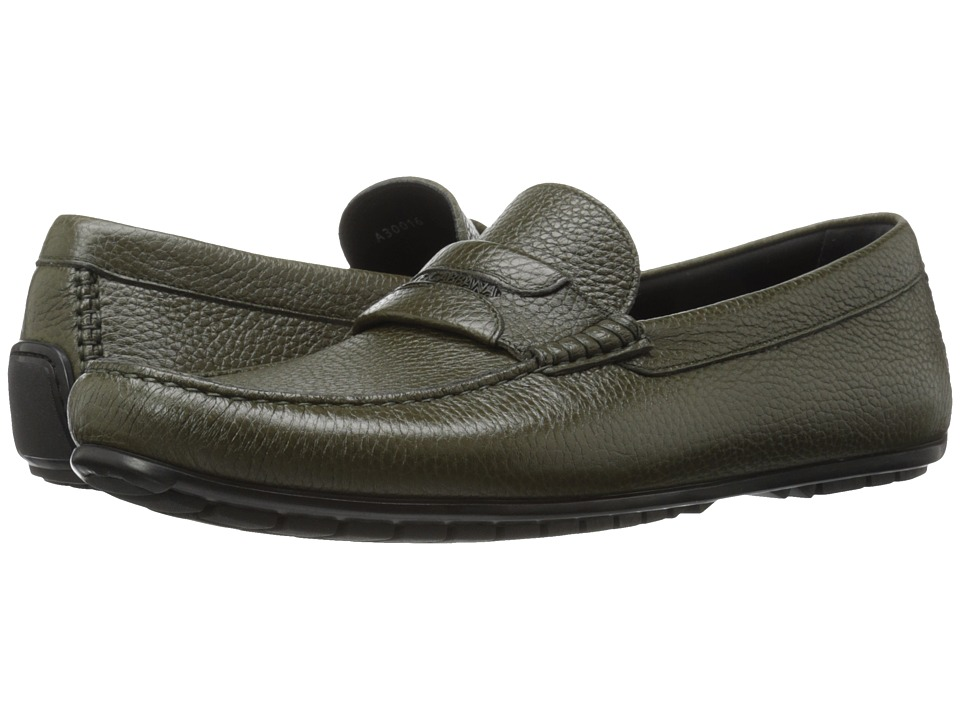 Dolce & Gabbana - A30016AC334 (Military Green) Men's Slip on Shoes