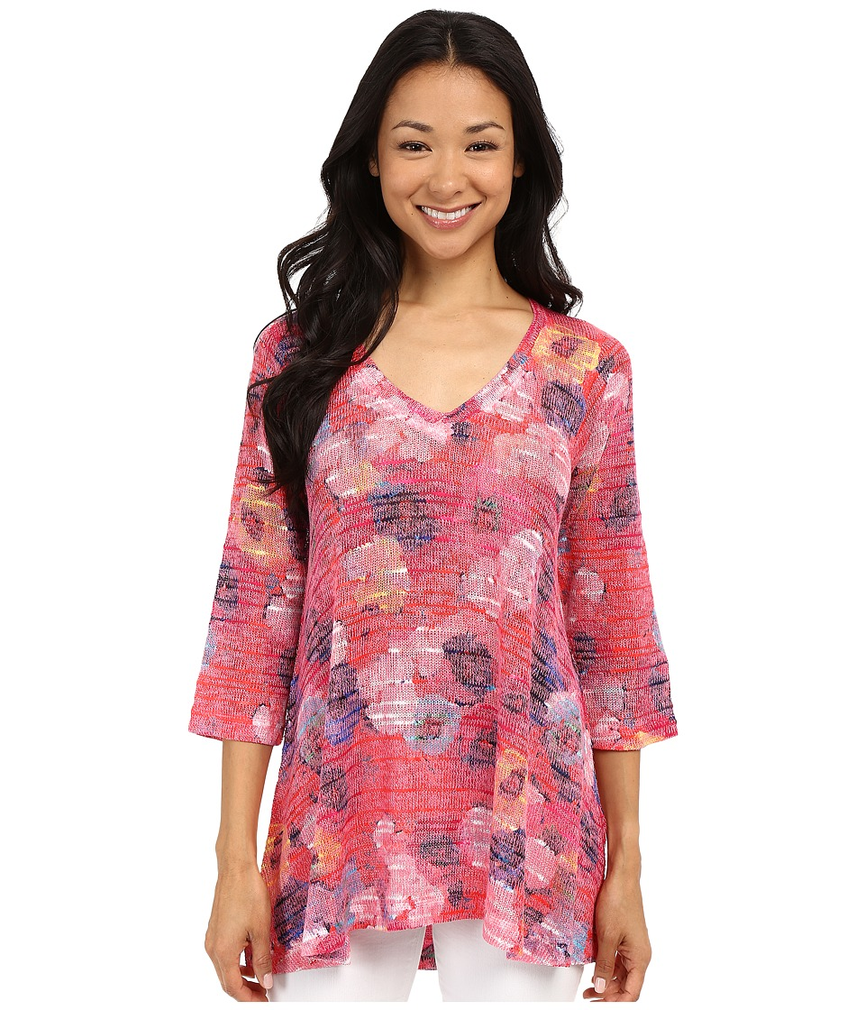 Nally & Millie - Floral Tunic (Pink) Women's Blouse