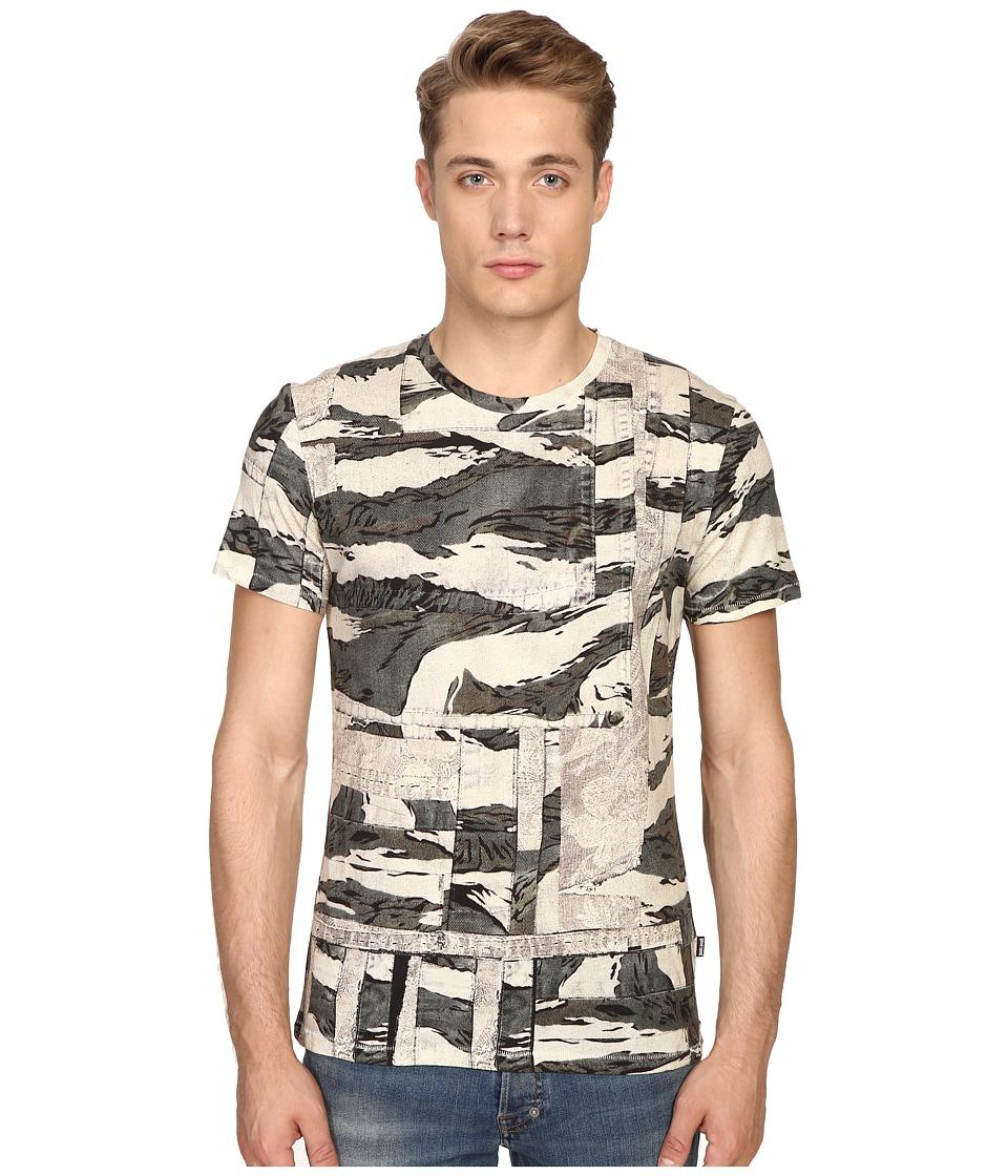 Just Cavalli - Slim Fit Camowork Print T-Shirt (Nut Variant) Men's T Shirt