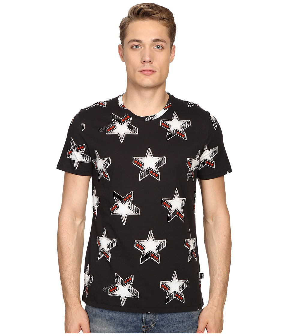 Just Cavalli - Slim Fit Stardust Print T-Shirt (Black) Men's T Shirt