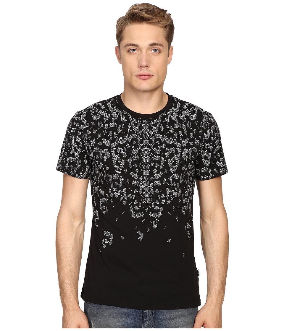 Just Cavalli - Slim Fit Printed Jersey T-Shirt (Black) Men's T Shirt