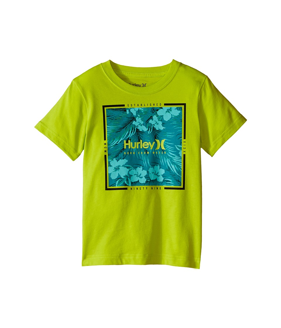 Hurley Kids - Leafy Tee (Little Kids) (Cyber) Boy's T Shirt