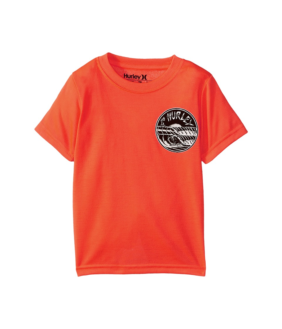 Hurley Kids - Double Barrel Tee (Little Kids) (Total Crimson) Boy's T Shirt