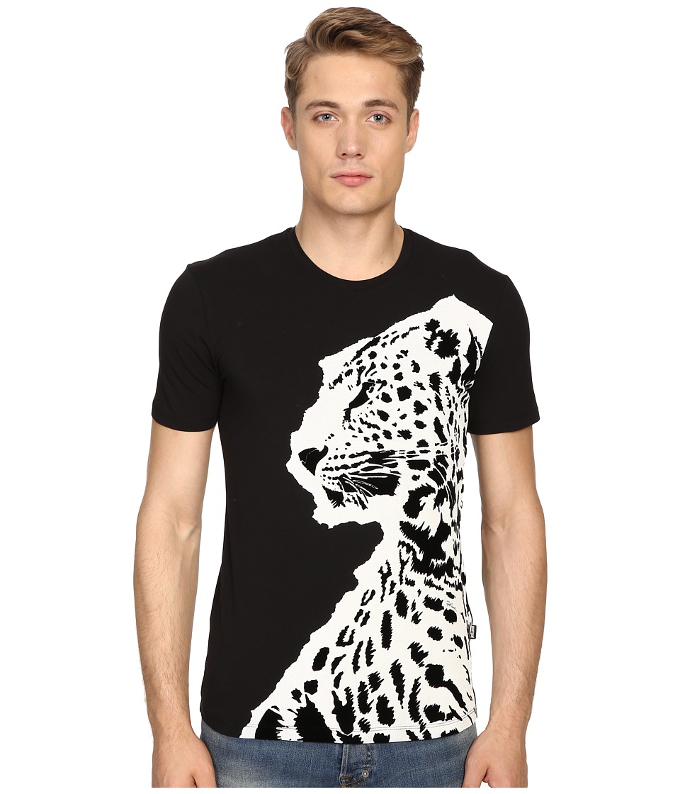 Just Cavalli - Super Slim Fit Jaguar T-Shirt (Black) Men's T Shirt