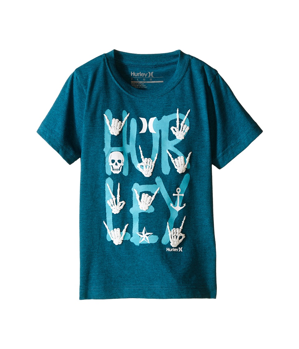 Hurley Kids - All Signs Tee (Little Kids) (Turbo Green Heather) Boy's T Shirt