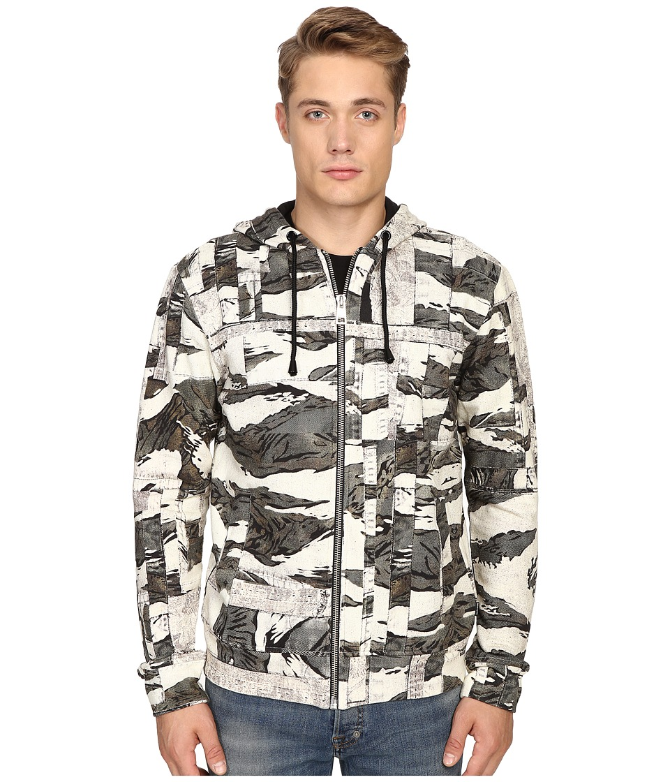 Just Cavalli - Camowork Print Hooded Sweater (Nut Variant) Men's Sweater