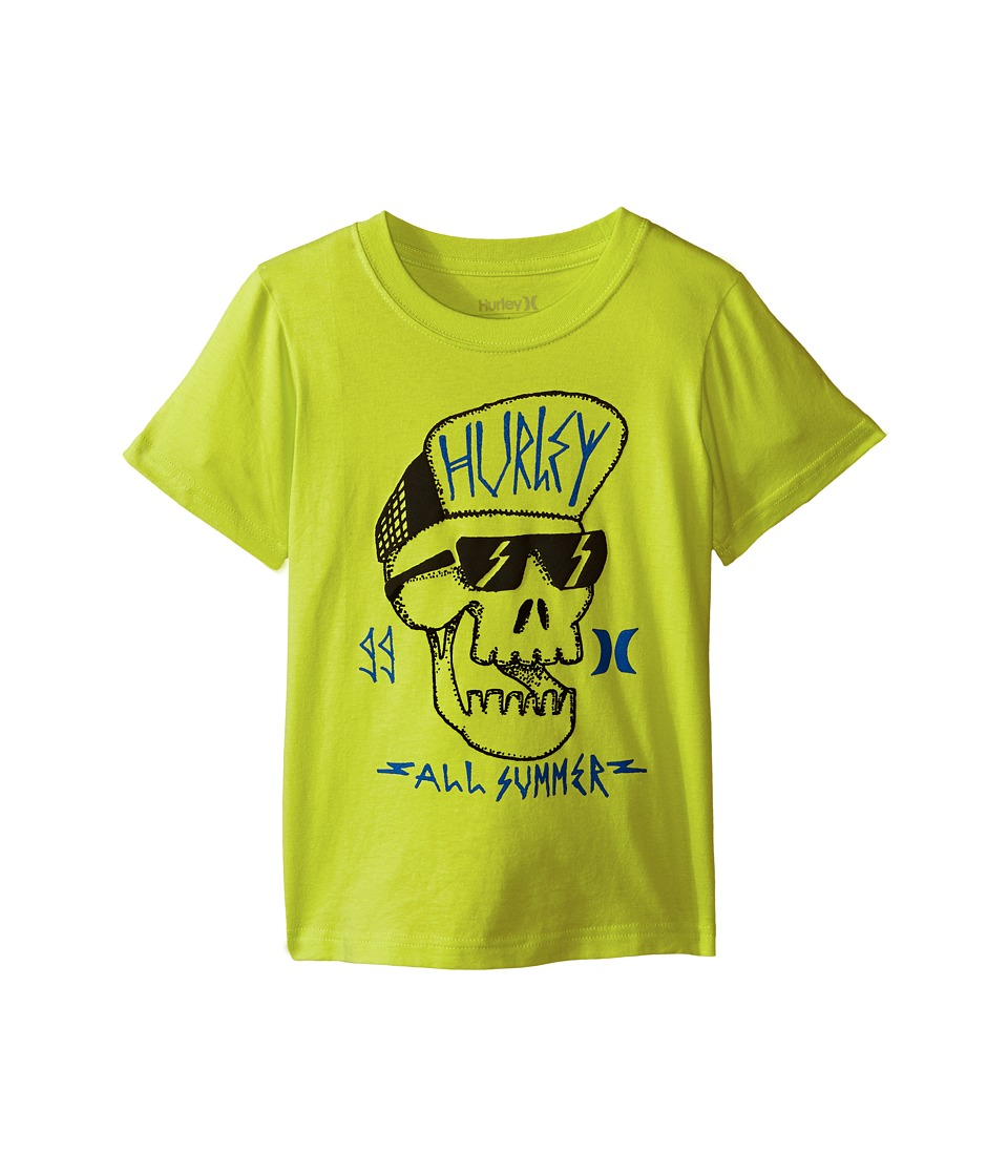 Hurley Kids - Skully Tee (Little Kids) (Cyber) Boy's T Shirt