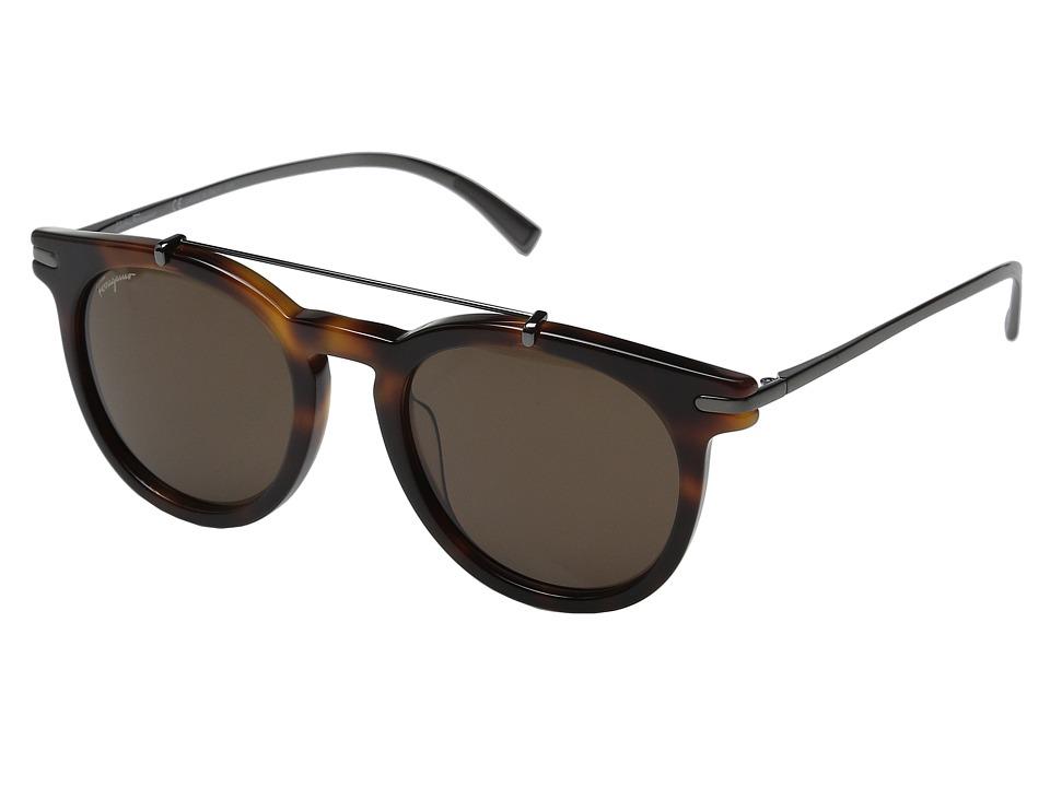 Salvatore Ferragamo - SF821SM (Matte Black/Green) Fashion Sunglasses
