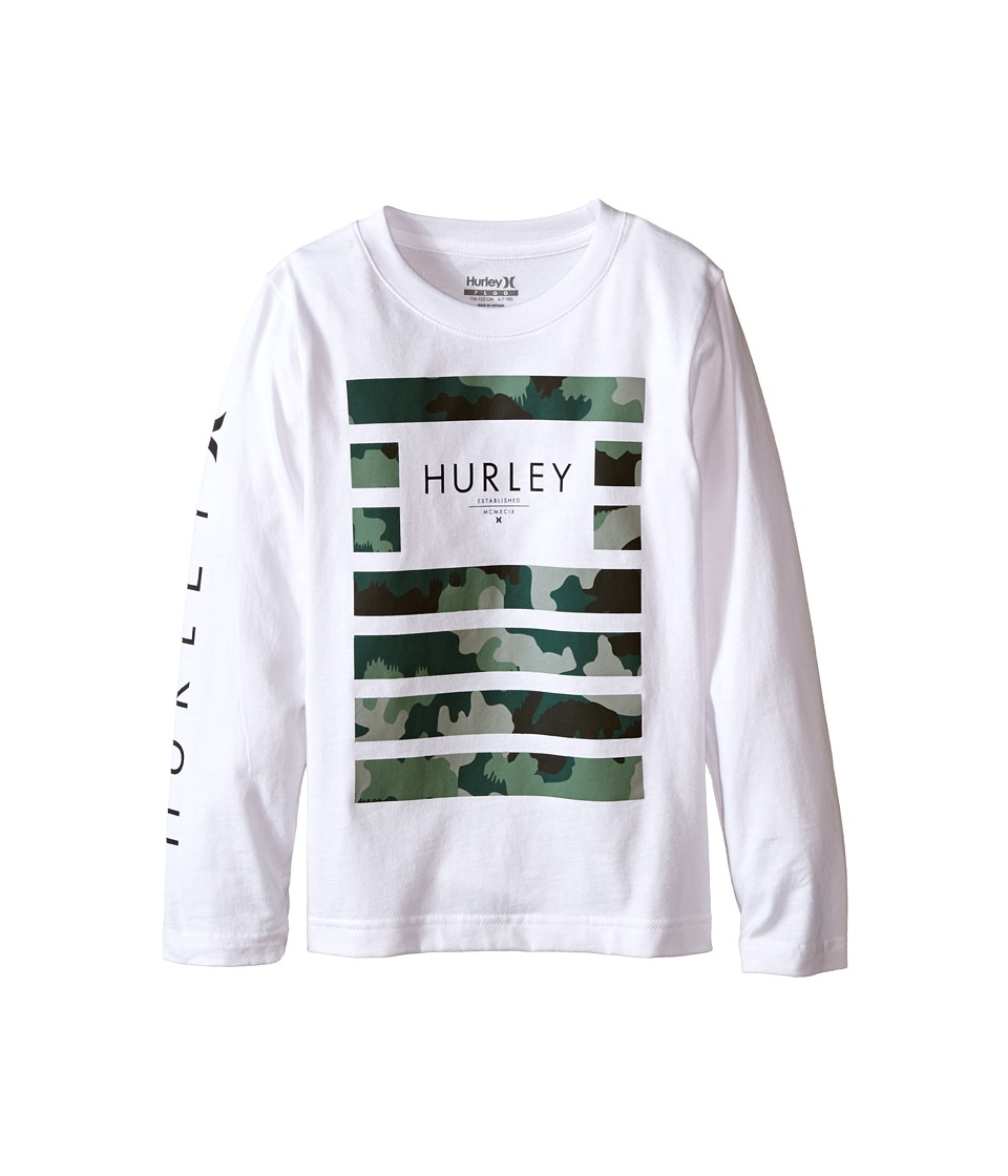 Hurley Kids - Pair Of Dice Long Sleeve Tee (Little Kids) (White) Boy's Long Sleeve Pullover