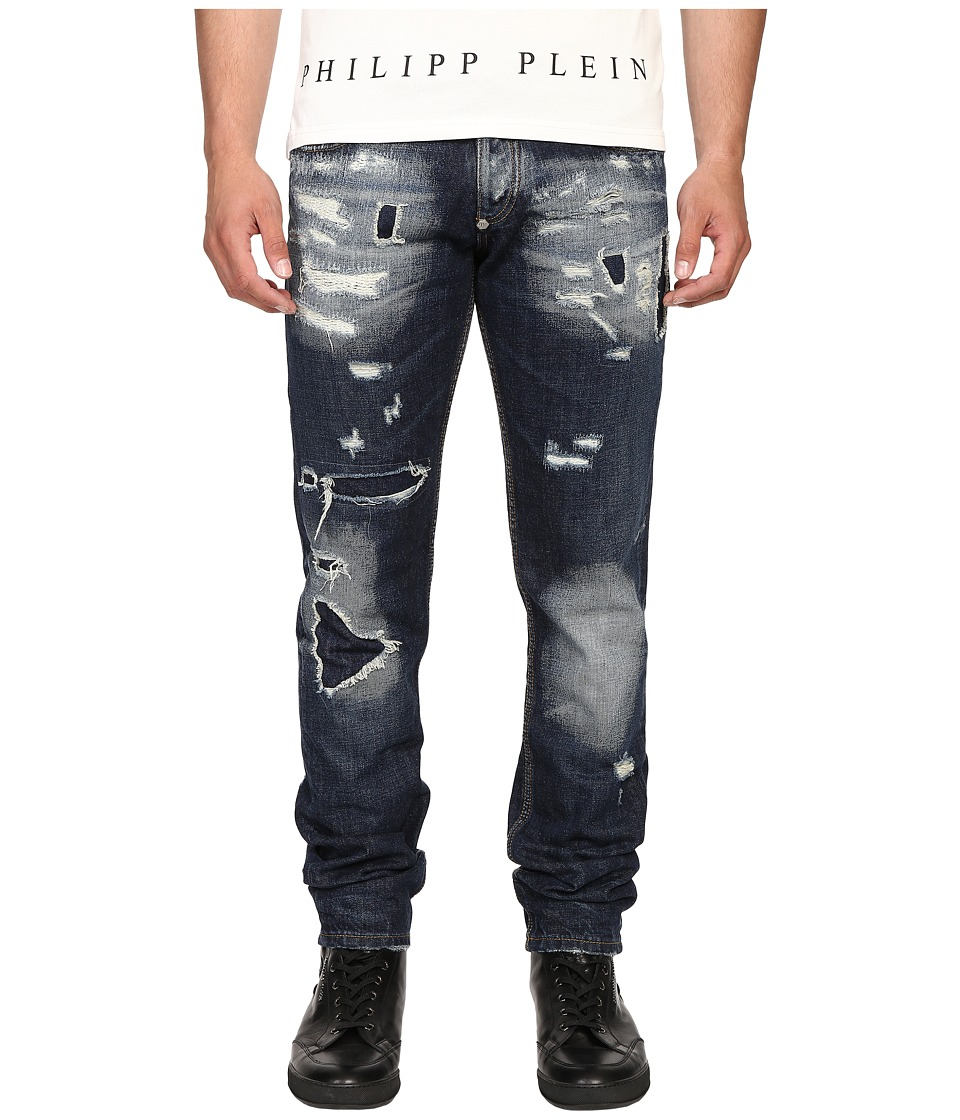 Philipp Plein - Straight Cut Deep Jeans (Thunder Storm) Men's Jeans
