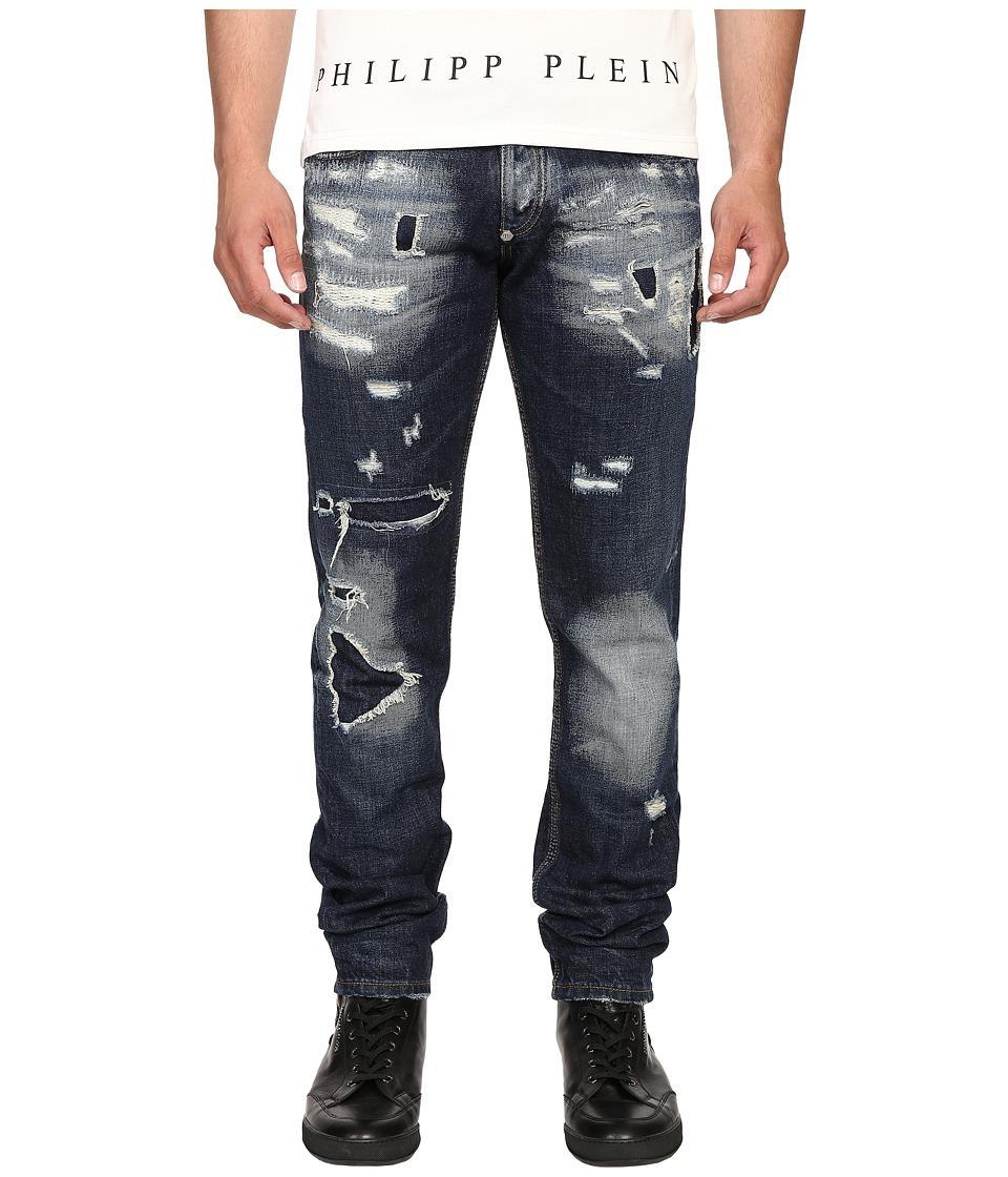 Philipp Plein - Straight Cut Deep Jeans (Thunder Storm) Men's Jeans