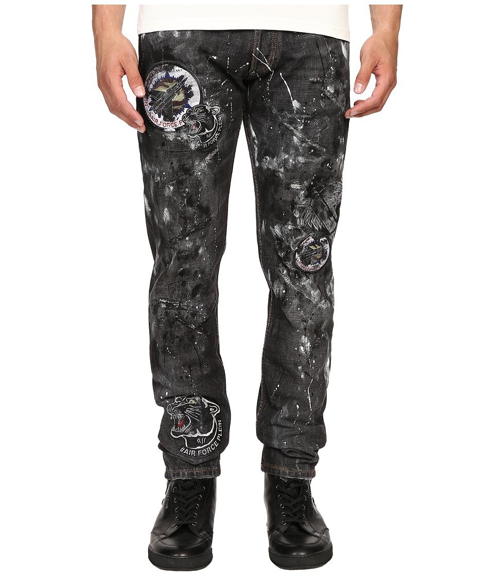 Philipp Plein - Straight Cut Kaleido Jeans (Noir Extreme) Men's Jeans
