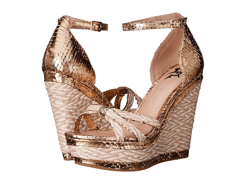LFL by Lust For Life - Lucid (Gold Snake) Women's Wedge Shoes
