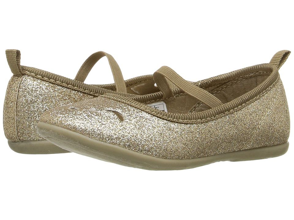 Carters - Kate 2 (Toddler/Little Kid) (Gold Glitter) Girl's Shoes