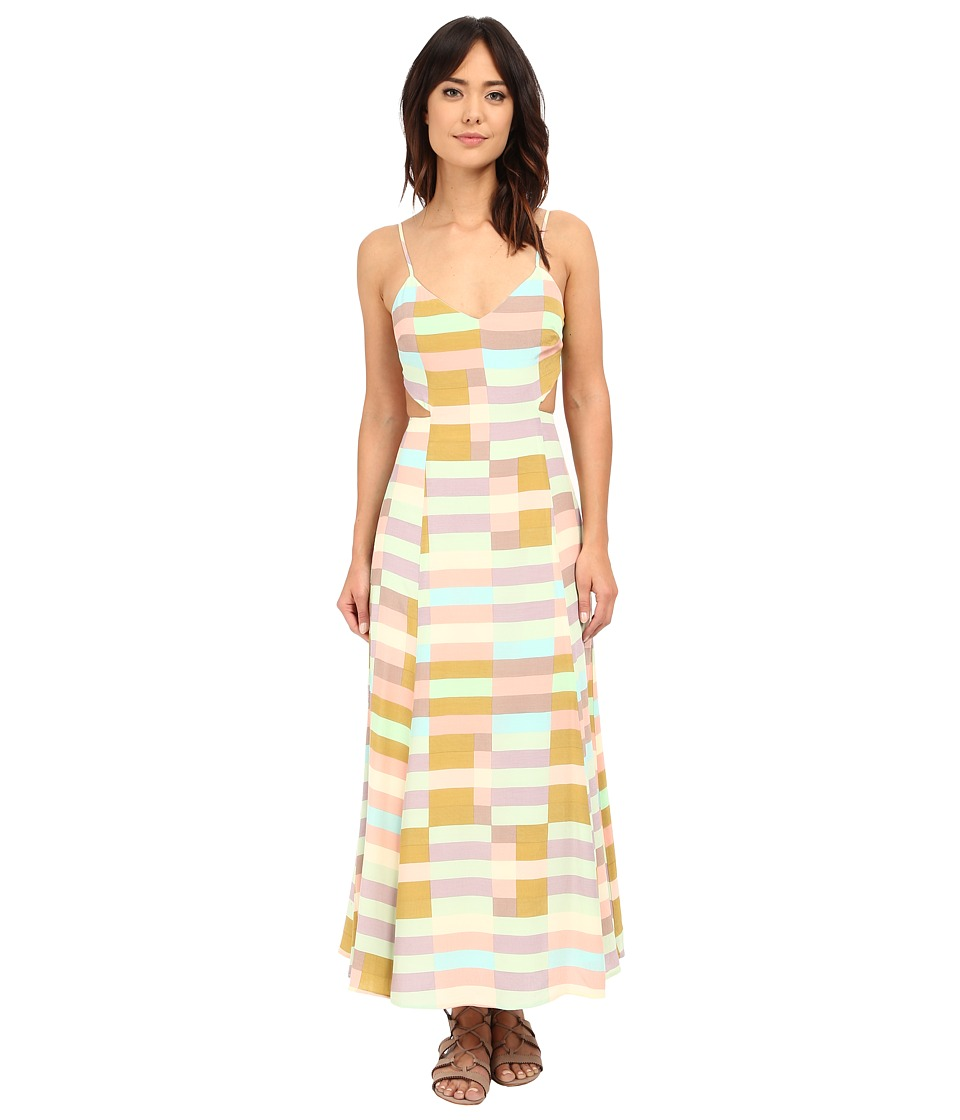 Mara Hoffman Flag Stripe Tie Dress (Sage Multi) Women