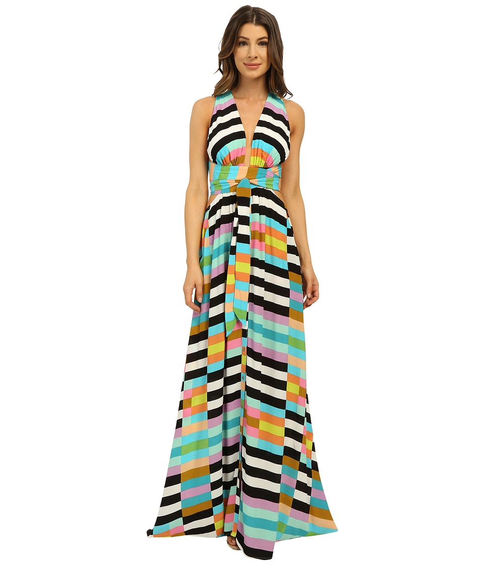 Mara Hoffman - Flag Stripe Maxi Dress (Black Multi) Women's Dress