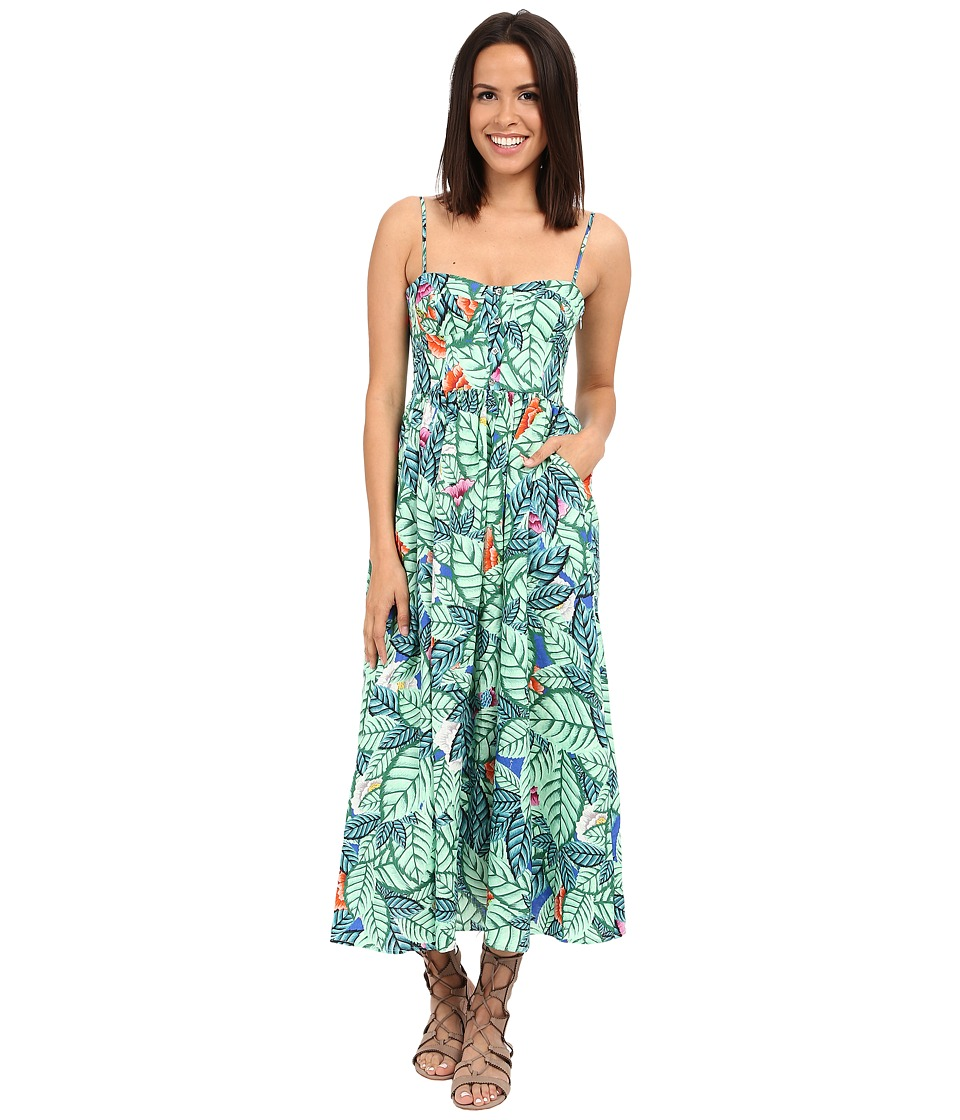 Mara Hoffman - Leaf Bustier Dress (Blue Multi) Women's Dress