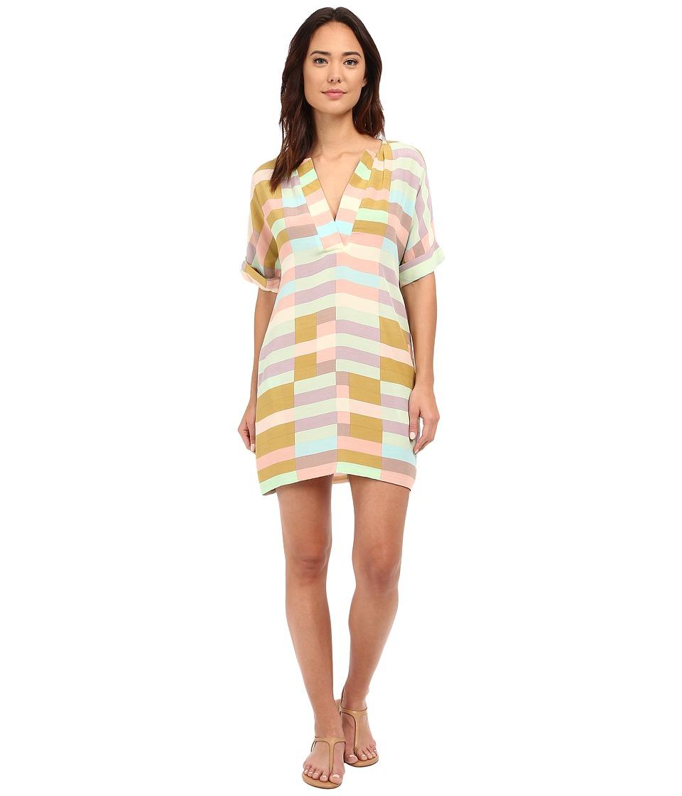 Mara Hoffman - Flag Stripe Shirtdress (Sage Multi) Women's Dress