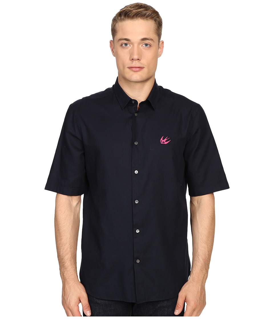 McQ - Short Sleeve Sheehan (Ink) Men's Short Sleeve Button Up