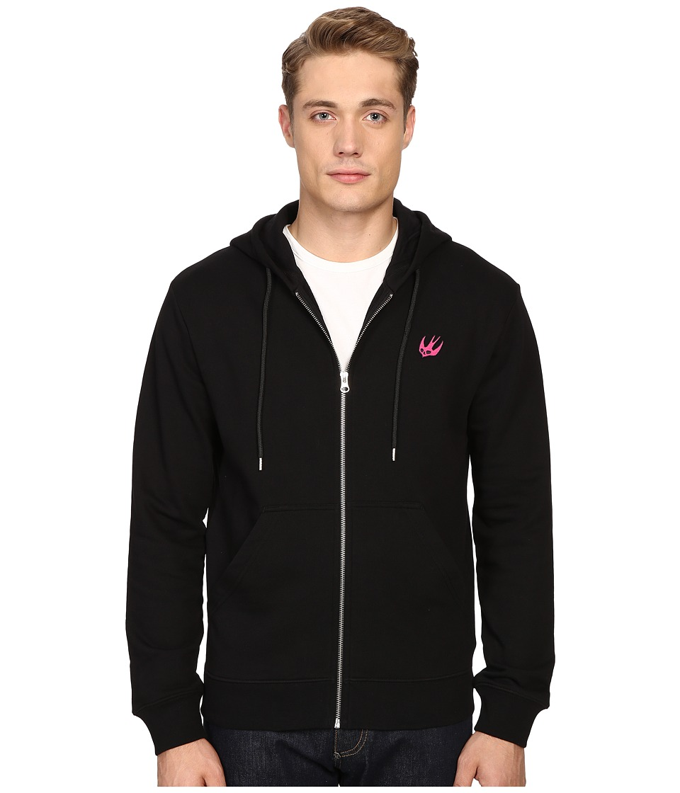 McQ - Clean Zip Hoodie (Darkest Black) Men's Sweatshirt