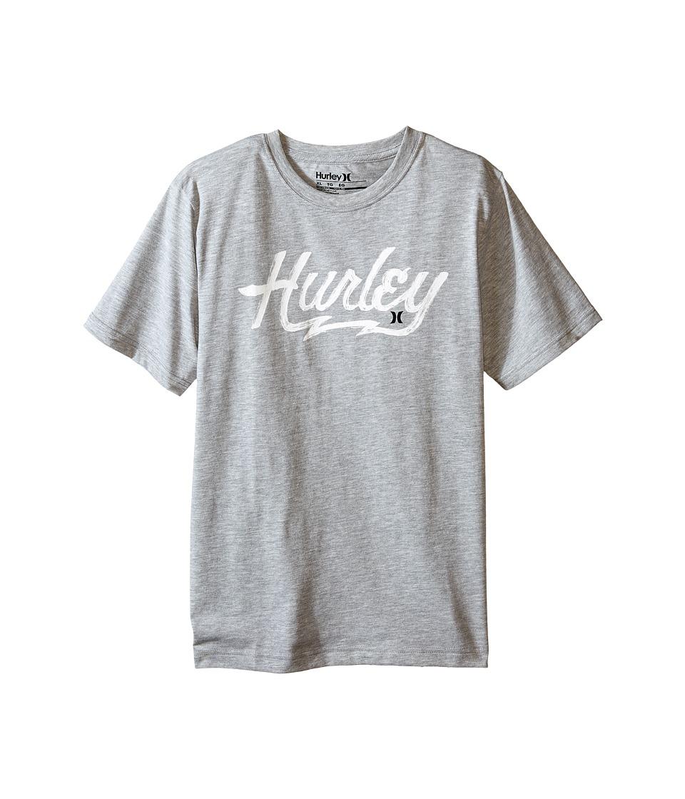 Hurley Kids - Medieval Anchor Tee (Big Kids) (Dark Grey Heather) Boy's T Shirt