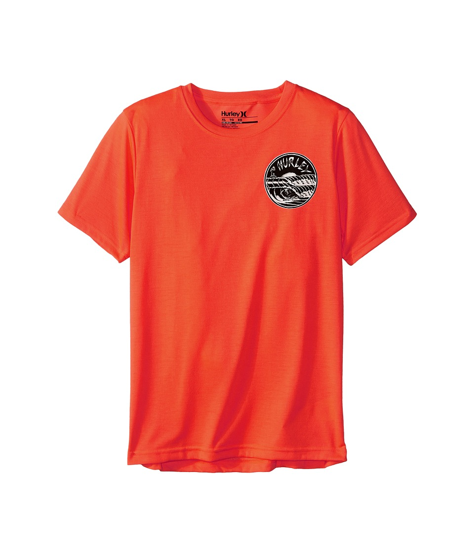 Hurley Kids - Double Barrel Tee (Big Kids) (Total Crimson) Boy's T Shirt