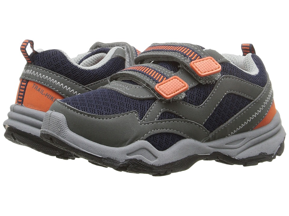 Carters - Wavy-B (Toddler/Little Kid) (Grey/Navy/Orange) Boy's Shoes