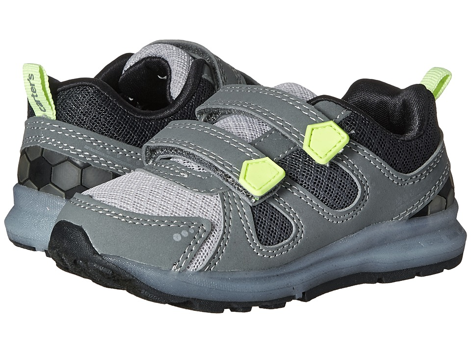 Carters - Fury-B (Toddler/Little Kid) (Grey/Yellow) Boy's Shoes