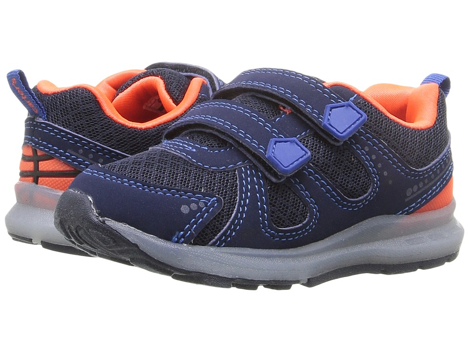 Carters - Fury-B (Toddler/Little Kid) (Navy/Orange) Boy's Shoes