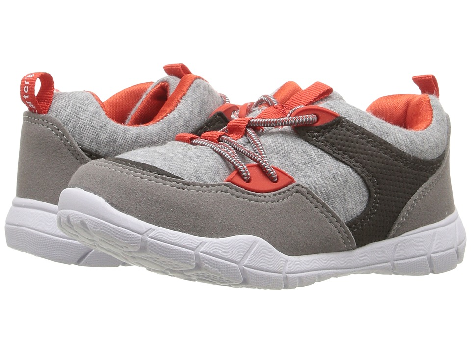 Carters - Tanker (Toddler/Little Kid) (Grey/Red) Boy's Shoes