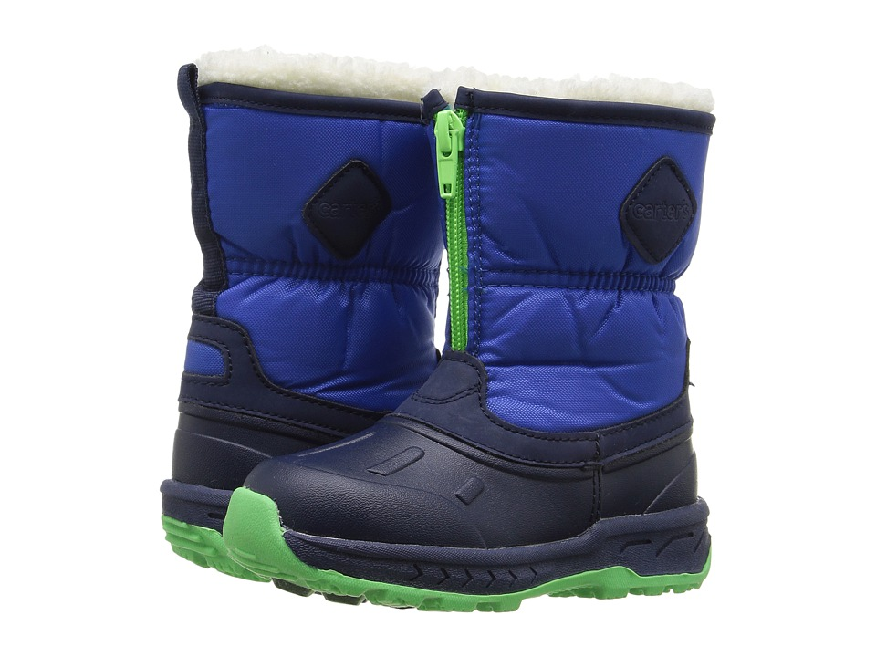 Carters - Zip-Up (Toddler/Little Kid) (Navy/Green/Blue) Boy's Shoes