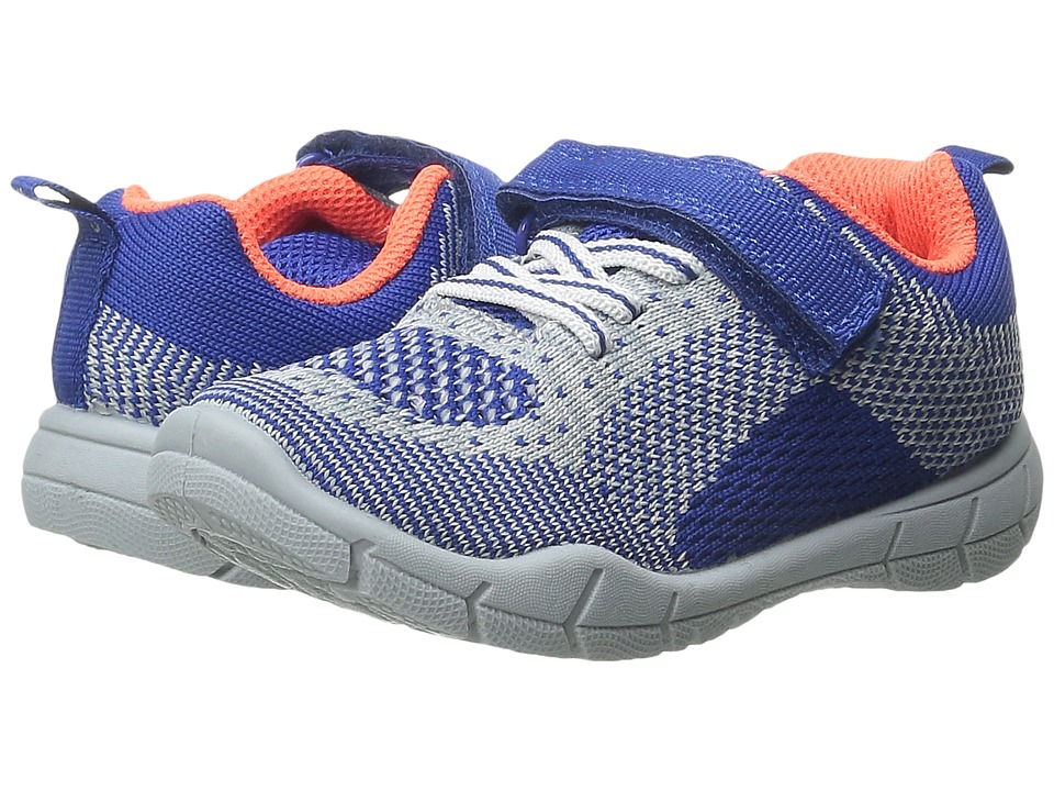 Carters - Walker 2-B (Toddler/Little Kid) (Blue/Grey) Boy's Shoes
