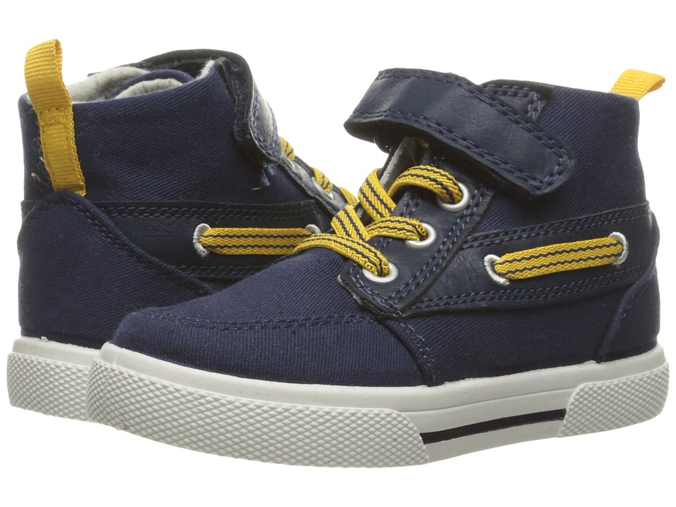 Carters - General 2 (Toddler/Little Kid) (Navy/Yellow) Boy's Shoes