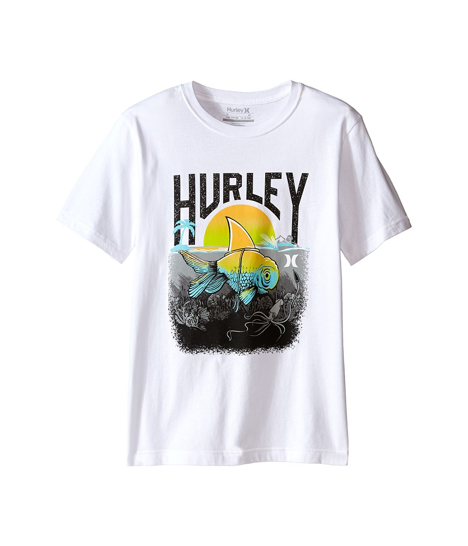 Hurley Kids - Great White Tee (Big Kids) (White) Boy's T Shirt