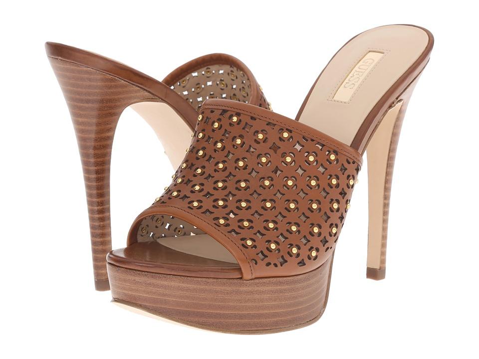 GUESS - Kamari (Natural Brown Leather) High Heels