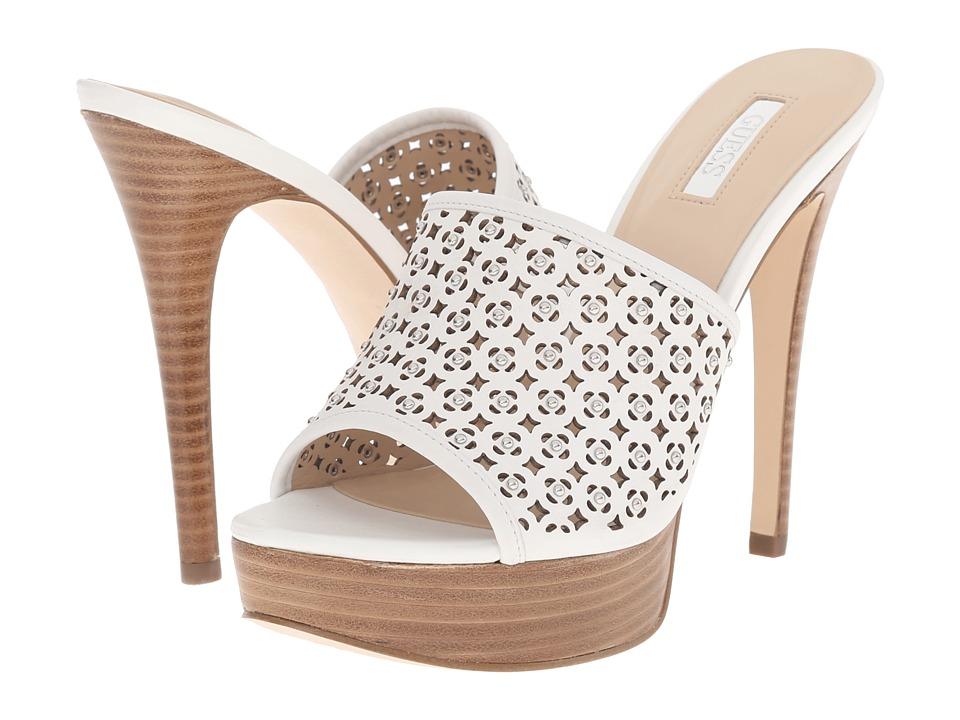 GUESS - Kamari (White Leather) High Heels