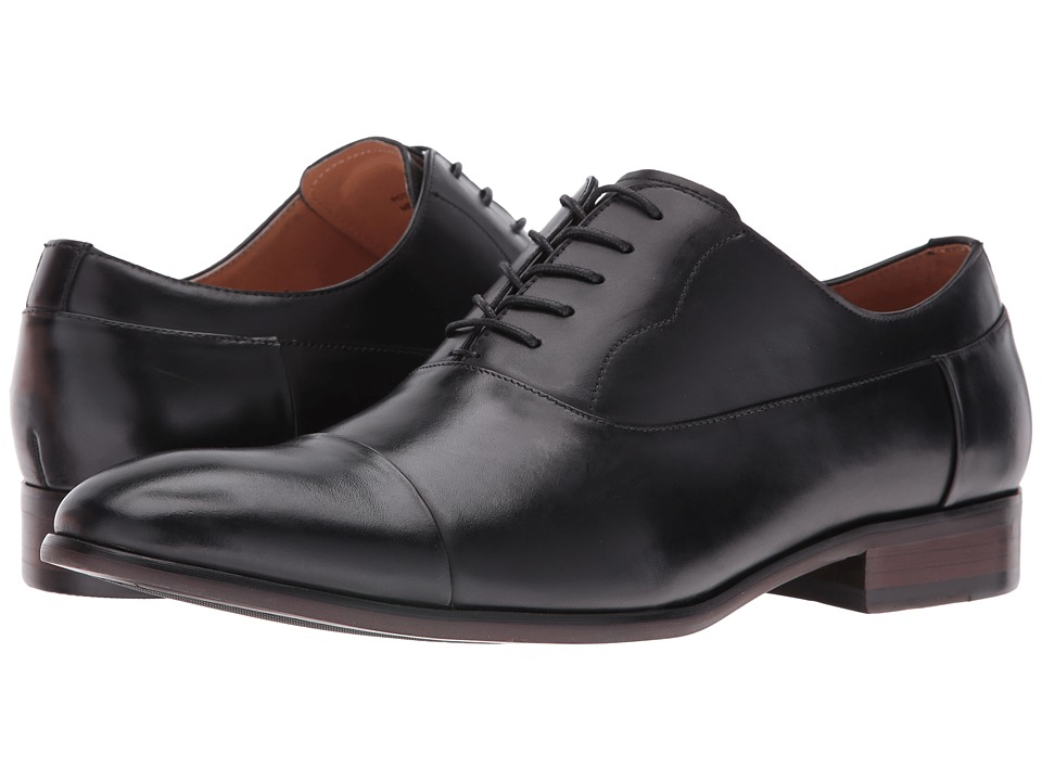 Steve Madden - Poter (Black) Men's Lace Up Cap Toe Shoes