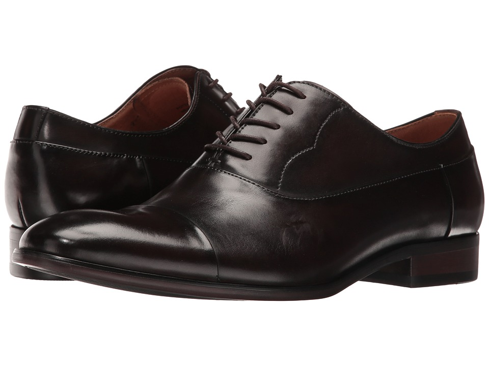 Steve Madden - Poter (Brown) Men's Lace Up Cap Toe Shoes
