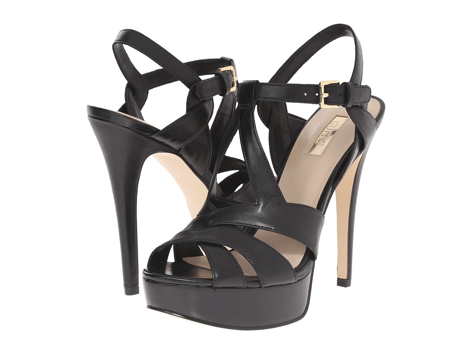 GUESS - Kymma (Black Leather) High Heels