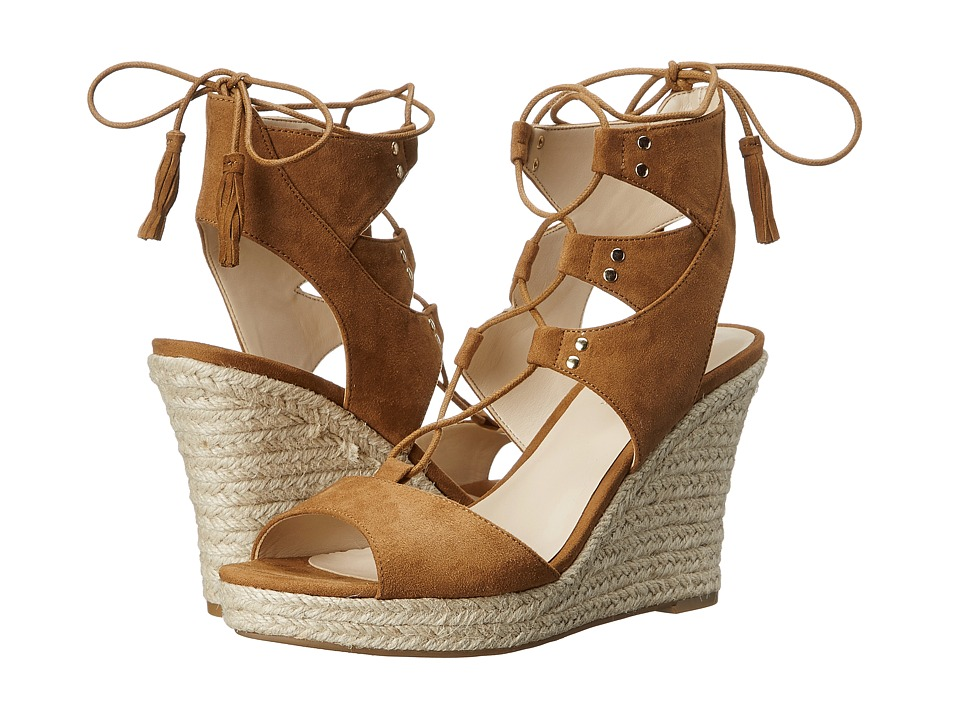 GUESS - Lamba (Tan Suede) Women's Wedge Shoes
