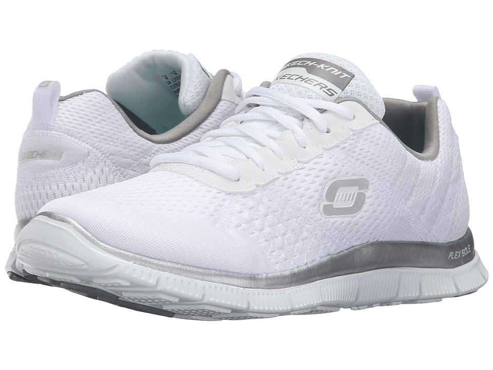 SKECHERS - Obvious Choice (White/Silver) Women's Shoes