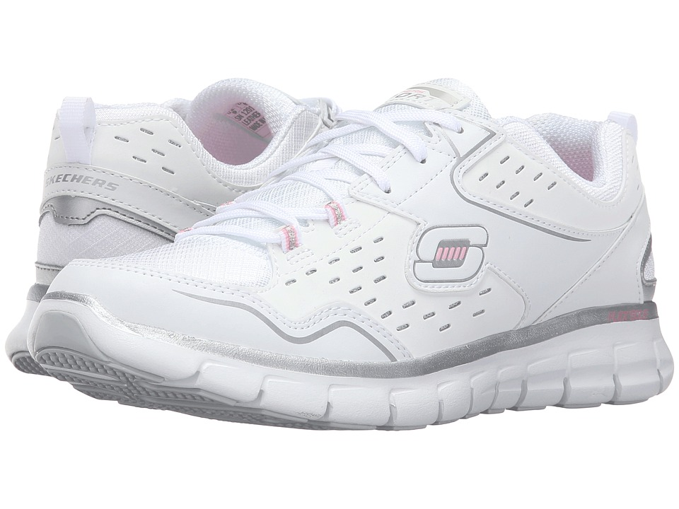 SKECHERS - Synergy - Front Row (White/Silver) Women's Shoes