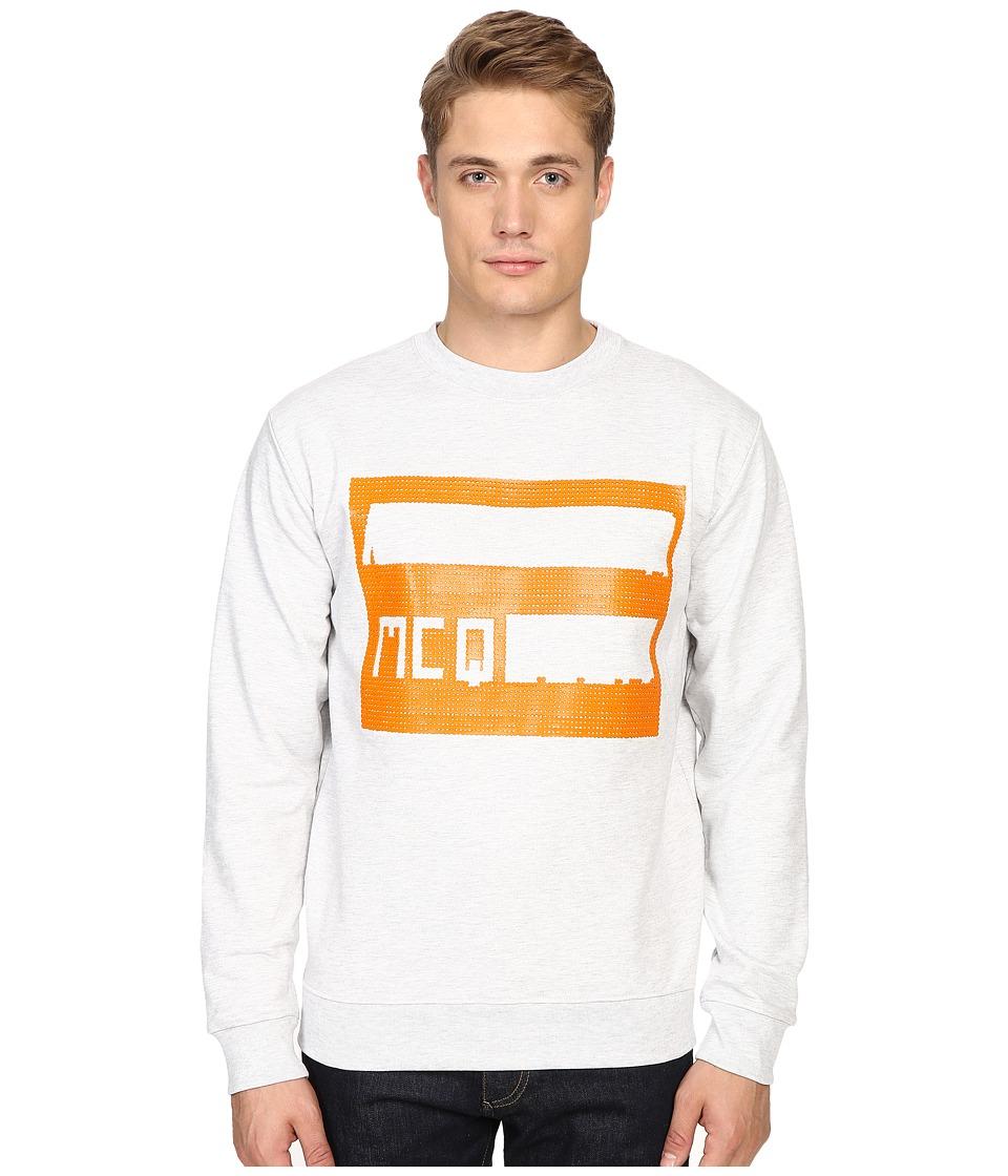 McQ - Clean Crew Neck (Gavin Melange) Men's Long Sleeve Pullover