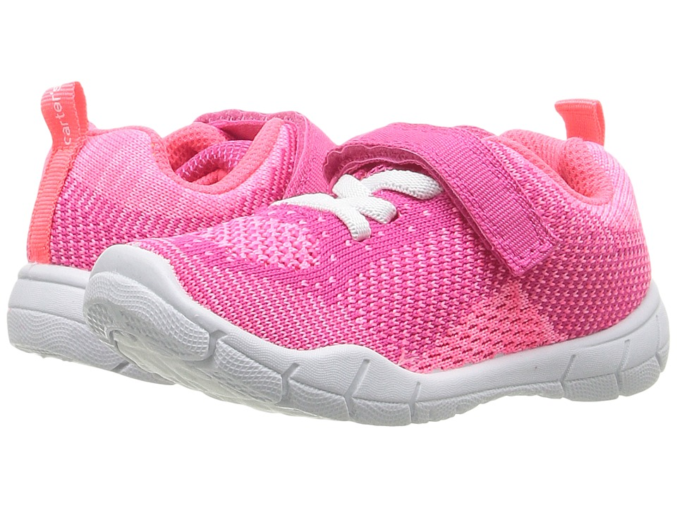 Carters - Walker 2-G (Toddler/Little Kid) (Orange/Pink) Girl's Shoes
