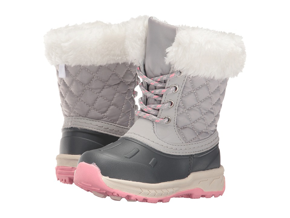Carters - Vermont (Toddler/Little Kid) (Grey/Pink) Girl's Shoes
