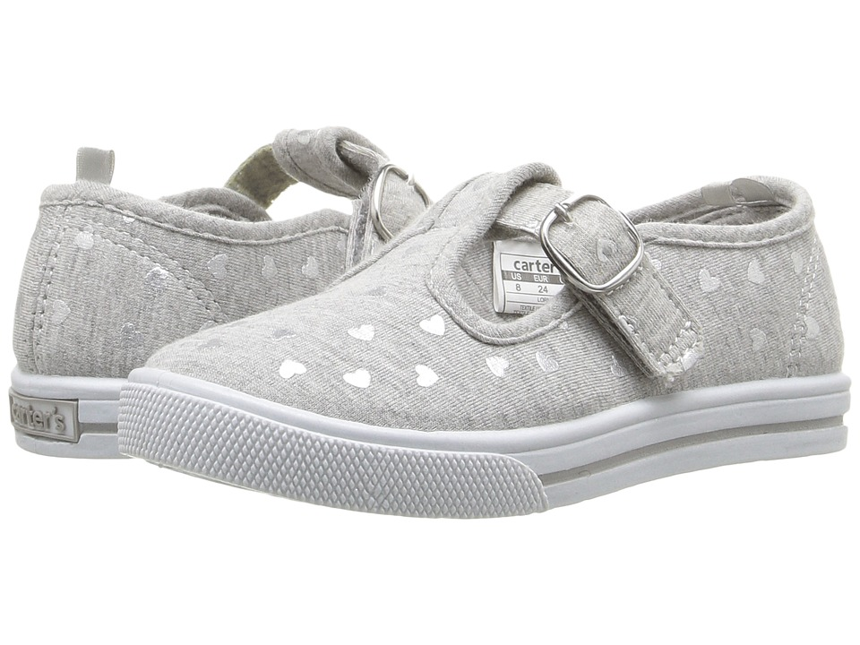 Carters - Lorna (Toddler/Little Kid) (Grey/Silver) Girl's Shoes